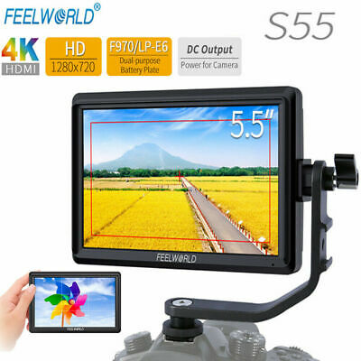 FEELWORLD S55 5.5inch Camera DSLR Field 4K HDMI FHD 1280x720 for Photographing D