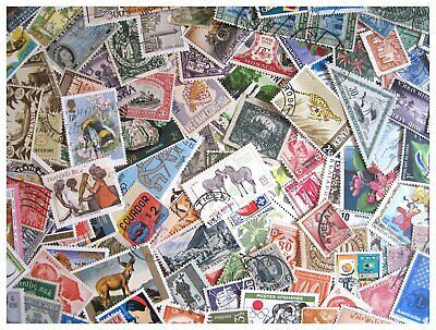 Lot of 100 Worldwide Used and Unused Starter set Postage stamps