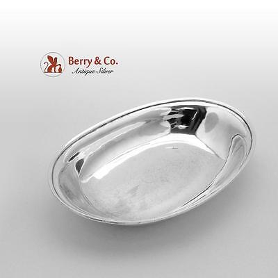 Arthur Stone Arts And Crafts Hand Made Oval Bowl Sterling Silver 1930
