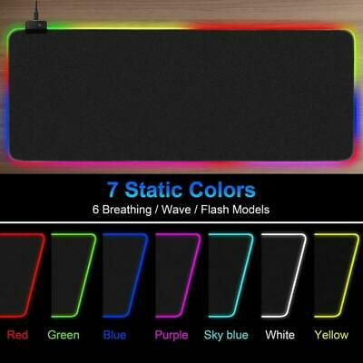 AU Gaming Mouse Pad RGB Oversized Glowing LED Extended Keyboard Pad Mousepad