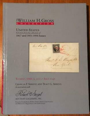 US William H. Gross Collection of 1847 and 1851-56 hardcover Siegel catalog