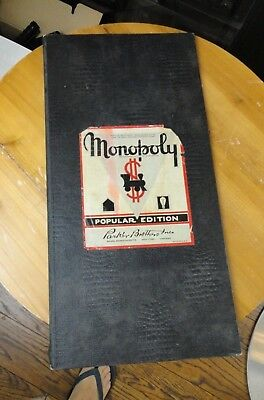 """Vintage Monopoly Game 1940""""s 1946 BOARD ONLY"""