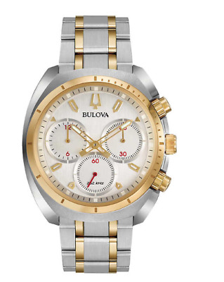 Bulova Two-Tone Curv Stainless Steel Men's Watch 98A157 NEW