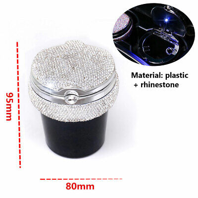 Diamond Bling Car Home LED Light Ashtray Auto Travel Cigarette Ash Holder Cup
