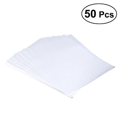 50 Sheets A4 Iron Heat Transfer Paper For The Light Cotton T-shirt Cup Hat AU