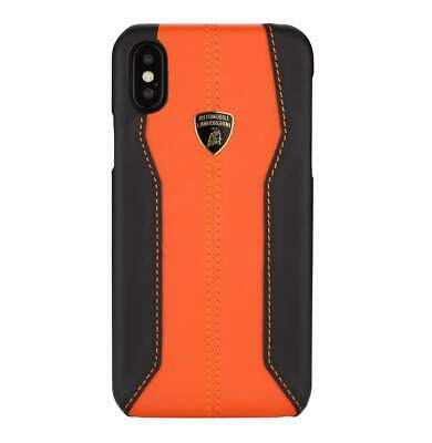 Lamborghini Huracan-D1 Leather (Orange) Back Cover Case for iPhone X
