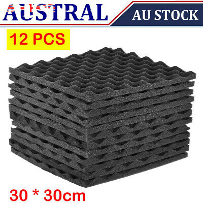 12 Pack Studio Acoustic Foams Panels Sound Insulation Foam 30 * 30cm Gift G2Z4