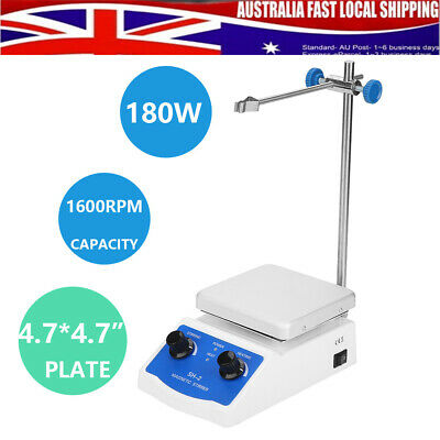 SH-2 Magnetic Stirrer Mixer W/Hot Plate Heating Electric Laboratory Stir Bar