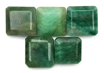 100% Certified Natural Green Emerald 122.10Ct Octagon Shape Loose Gemstone Lot