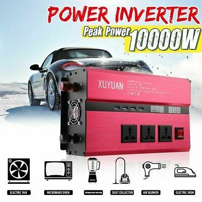 10000W Peak Car Power Inverter DC 12V à AC 220V Convertisseur Onduleur Sine Wave