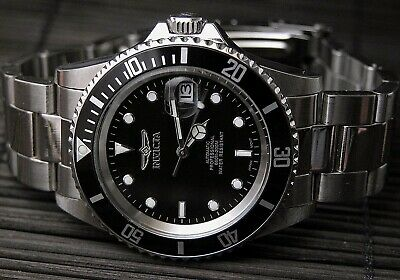 Invicta Pro Diver 8932Ob Black Dial Mens Stainless 40Mm Impact Case Watch New