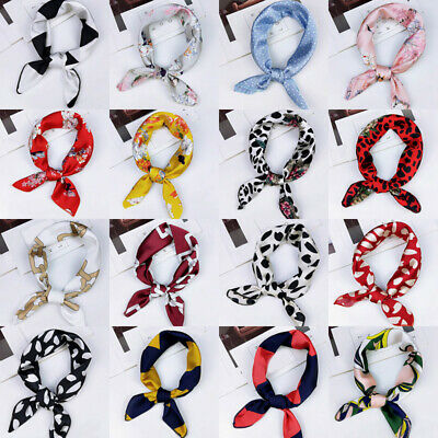 Women Elegant Square Scarf Bandana Neckerchief Head Neck Wrap Hair Tie Scarves