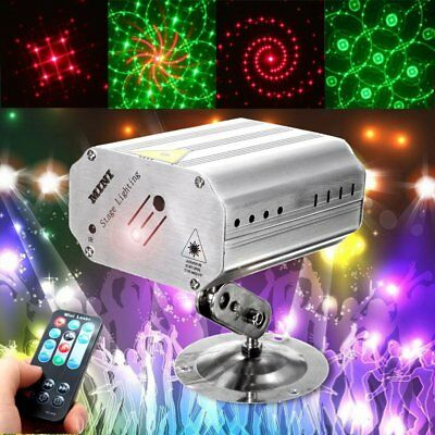 Voice Control Music Rhythm Flash Light LED Laser Projector Stage Light Party  RY