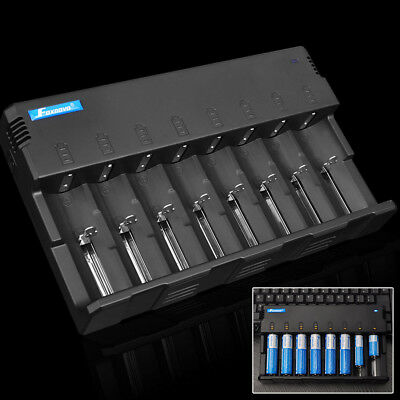 8-Slots 5V USB Output Li-ion 18650 14500 AA AAA Smart Battery Charger Universal