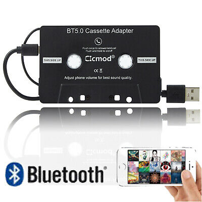 Bluetooth Black Car Cassette Tape Adapter For Iphone Mp3 Ipod Android Cd Cassete