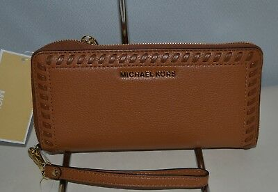 dc7d30a09279 Michael Kors Lauryn Leather Acorn Travel Continental Wallet/ Wristlet Nwt