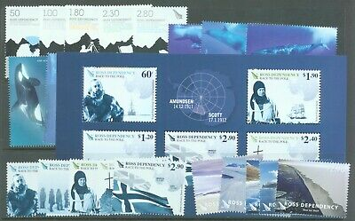 Ross Dependency 2009-13 four sets 4 miniature sheets sg.115-9, 120-5, 126-38 144