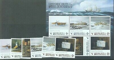 Ross Dependency 2017 Historic Huts set of 6 and miniature sheet MNH