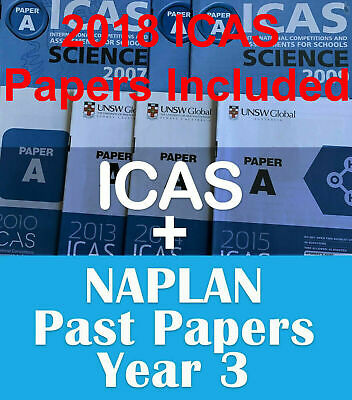 ICAS Year 3 + Naplan Year 3 - past papers with answers - Fast PDF download
