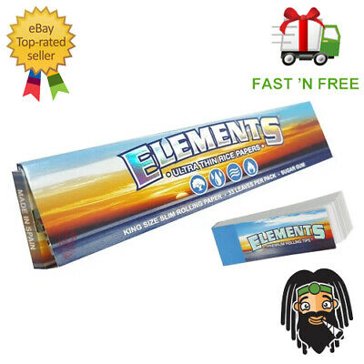 Elements Kingsize Ultra Thin Large Rolling Papers - Multi Listing Box