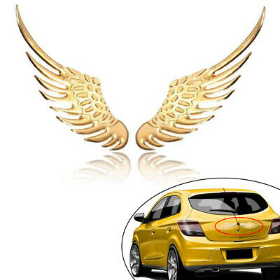 Metal 3D Angel Hawk Wing Emblem Stickers Logos Decor Badge Auto Styling Decal
