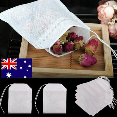 100/200x Empty Teabags String Heat Seal Filter Paper Herb Loose Tea Bags TeabaRY