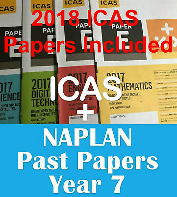 ICAS Year 7 + Naplan Year 7 - past papers with answers - Fast PDF download