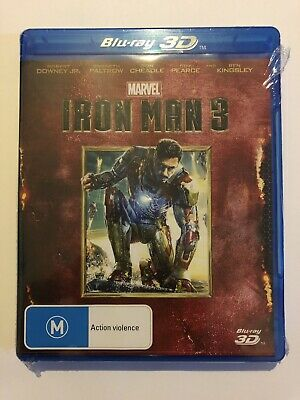 Iron Man 3 (3D Blu-Ray) Brand New & Sealed Rated M Region B Movie 🍿 Marvel