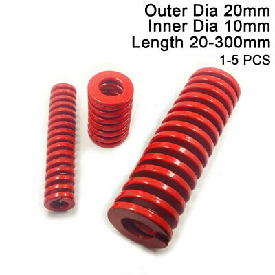 20mm OD Red Medium Load Compression Stamping Mould Die Spring 10mm ID All Sizes