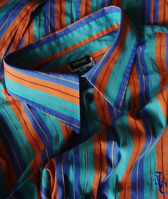 SHIRT slimfit man vintage 90's VERSACE JEANS COUTURE TG.L   made Italy Rare