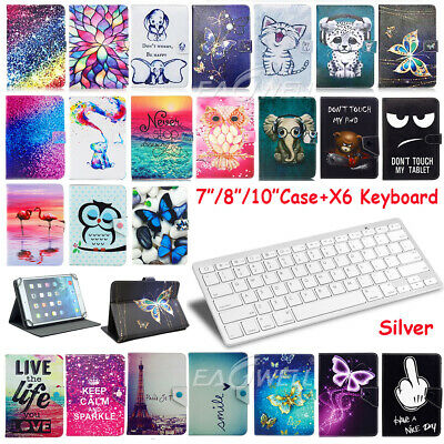 """For Huawei MediaPad T1 T3 T5 M3 M5 7-10.1"""" Leather Case Cover Bluetooth Keyboard"""