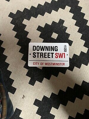 Downing Street Metal Sign Retro Vintage Style Small