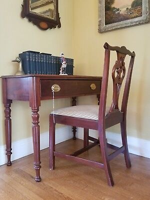 Reproduction Antique Georgian Mahogany Chippendale Side Chair