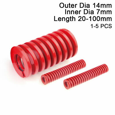 14mm OD Red Medium Load Compression Stamping Mould Die Spring 7mm ID All Sizes