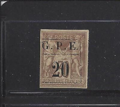 """Guadeloupe - 1 - Mh - 1884 - """"g.p.e. 20"""" On French Colonies 30"""