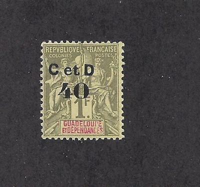 """GUADELOUPE - 48a TYPE m  -MH 1903 -""""C et D 40"""" O/P  ON NAVIGATION & COMMERCE"""