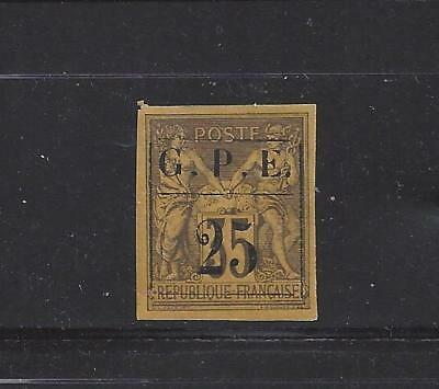 """Guadeloupe - 2 - Mh - 1884 - """"g.p.e. 25"""" On French Colonies 35"""