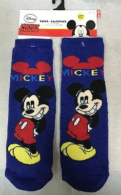 Disney Mickey Mouse Boy Sock Size 4-6 Shoe 7-10 Safety Toes New