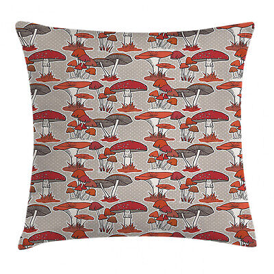 Woodland Mushroom Throw Pillow Cases Cushion Covers Home Decor 8 Sizes