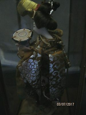 Antique Japanese Geisha Silk Kimono And Human Hair Doll