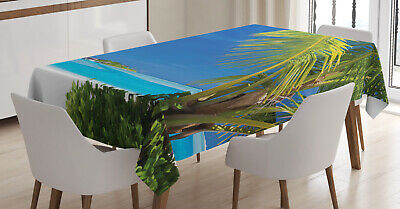 Oceanic Tablecloth Ambesonne 3 Sizes Rectangular Table Cover Decor