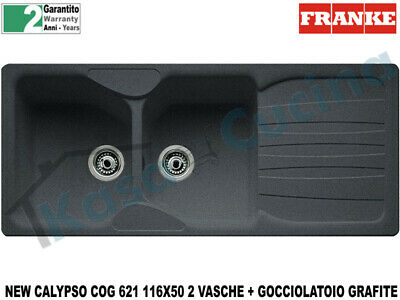 Lavello Fragranite Franke CUG 620 New Calypso 86 X 50 2 vasche Grafite