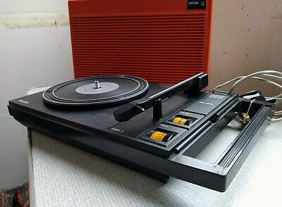 Collectable Philips 100 Portable Record Player 1970's.