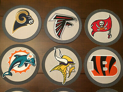 *ALL* 32 NFL National Football League Teams!!!  8'' Embroidered Round Patches