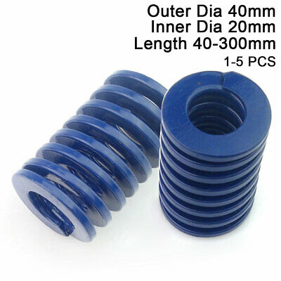 40mm OD Blue Light Load Compression Stamping Mould Die Spring 20mm ID All Sizes
