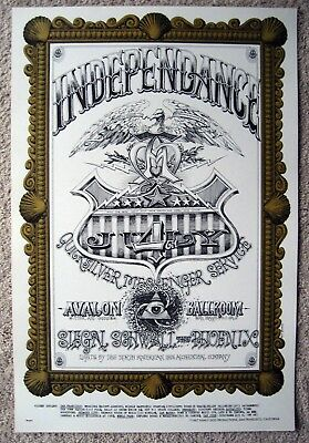 1967 Griffin Quicksilver Independence Day Family Dog  Fillmore Poster Fd 69 1St