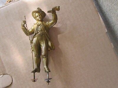 ANTIQUE FRENCH MANTEL CLOCK  BRONZED SPELTER BOY FIGURE ONLY-19th c.