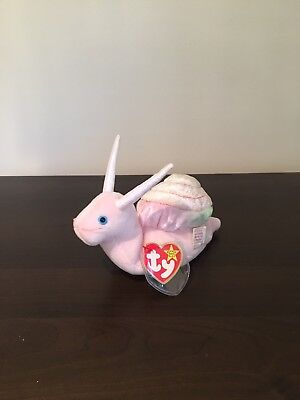 fb0fc47f1bc TY Beanie Baby Babies SWIRLY THE SNAIL Stuffed Animal NWT Swing Tag  Protector