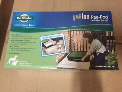 PetSafe Pet Loo Pee Pod Pack of 7 Replacement Pods, 1 Tub Wee Sponge & Scoop NEW