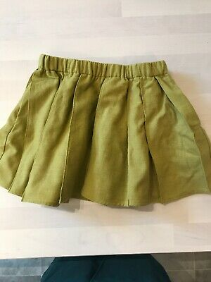 COS baby Girl Pleated Wool Skirt Green 1-2 Years